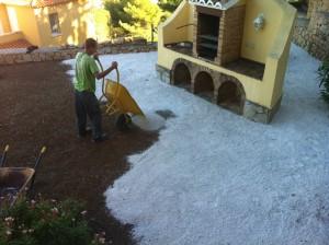Preparación de terreno para instalar césped artificial